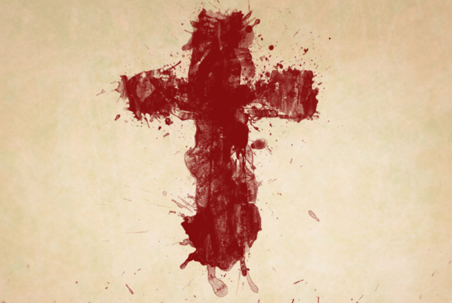 no harm nenhum mal pelo sangue de Jesus cruz páscoa